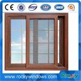 Ventana y puerta de aluminio de aluminio usadas estilo de desplazamiento de Windows del vidrio Tempered de América solas
