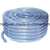 Boyau tressé renforcé flexible clair de PVC
