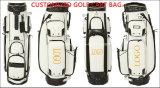 PU-lederner Polyarbeitsweg-Golf-Beutel-kundenspezifischer Golf-Beutel-Golf-Karren-Beutel