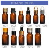 Bouteille en verre huile essentielle claire/ambre/bleue/verte/bouteille cosmétique/bouteille de parfum