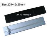 Fábrica de plata y negra de la caja de embalaje del regalo de la joyería del color para el conjunto de la joyería