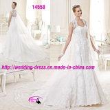 Nixe reizvolle V-Ausschnitt Spitze-Brautkleid mit Umhüllung