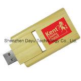 Vara de madeira da memória de Pendrves do cartão instantâneo do polegar da movimentação do USB 2.0 do cartão de memória do USB do disco instantâneo do USB do logotipo do OEM da vara do USB da movimentação do flash do USB