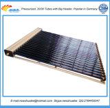 Colector solar verdadero del tubo de calor del vacío de los materiales