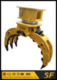 掘削機の石のグラブ、掘削機のための回転グラブ