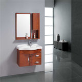 Новая оптовая тщета ванной комнаты стены твердой древесины самомоднейшая