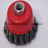 Type de torsion de brosse métallique de cuvette de dérouillage pour le nettoyeur métallurgique