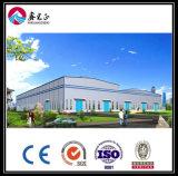 Edifício pré-fabricado da construção de aço do baixo custo (ZY146)