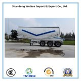 Reboque do petroleiro do cimento do volume do caminhão de tanque do Tri-Eixo 45 M3 do Semi-Trailer