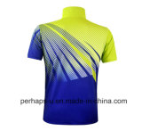 Schnelles-Drying Unisex Polyester Badminton Polo Shirt mit Sublimation Print