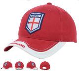 新しい方法デザイン高品質のオレンジ綿のゴルフはヴェルクロ裏付けが付いている帽子を遊ばす
