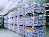 Recipientes Stackable industriais dobráveis do engranzamento de fio do armazenamento
