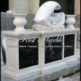 Marmeren HerdenkingsGedenkteken mem-155 van Carrara van het Graniet van de Steen Herdenkings Herdenkings Wit