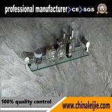 Prateleira de vidro elegante do aço inoxidável para os acessórios do banheiro (LJ55013)