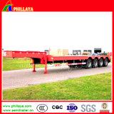 4 remorque inférieure de bâti Lowboy de camion lourd de l'essieu 80-100ton