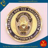 Vergoldung-Metallmünze für Souvenir&Military&Police