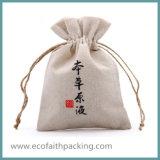 Мешок подарка джута для мешка ювелирных изделий джута дня Valentines
