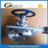 Robinet d'arrêt sphérique standard d'acier inoxydable DIN Pn40 Dn80 316