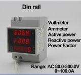 Ampèremeter van de Voltmeter van de Meter van D52-2048 AC200-450V AC0-100.0A LCD Digitial de Multi