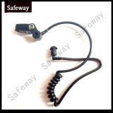 2本のワイヤーSuveillanceキットのイヤホーンのための黒い空気管キット