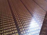 Madeira compensada Shuttering enfrentada da madeira compensada da película impressa com Logoes