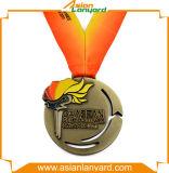 Het Geplateerde Goud van het metaal Medaille met dubbel-Gezicht