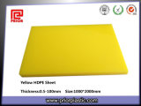 Gele HDPE Plate met 0.5100mm Thickness