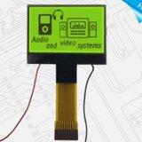LCD Stn LCDスクリーンの黄色緑のバックライト128X64の図形