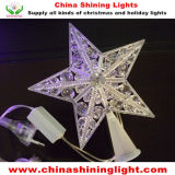 Luces de la estrella LED de la decoración del árbol de navidad del día de fiesta