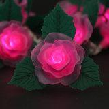 El LED enciende la decoración del día de fiesta de la luz de la cadena de Rose de la luz de la batería del LED