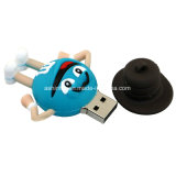 Lecteur flash USB de PVC de dessin animé de Thumbdrive de clé de mémoire USB d'haricot de chocolat
