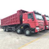 8*4 336HP LHD 재고 덤프 트럭 팁 주는 사람 트럭