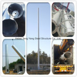 셀룰라 전화 원거리 통신 안테나 Monpole 직류 전기를 통한 강철 관 탑