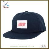 Cappelli non strutturati di nylon di Snapback del comitato del commercio all'ingrosso 5 con il contrassegno tessuto