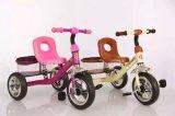 衝撃吸収性の子供のバイクの三輪車が付いている子供の三輪車