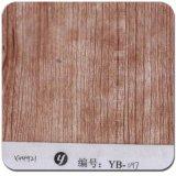 Yingcai 1mの幅のシナモンによってまだらにされる木製パターン立方印刷のフィルム