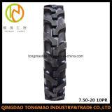 Pneu do trator de exploração agrícola da alta qualidade do teste padrão de China 7.50-20 R1 R2/pneumático agricultural