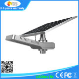 Интегрированный уличный свет 20W СИД солнечный с панелью солнечных батарей батареи