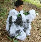 Kostuum van Ghillie van de Sneeuw Camo van de polyester het Lichtgewicht
