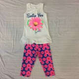 スクエア6671摩耗に着せている子供のための夏の子供の女の赤ちゃんのスーツの衣服