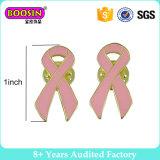Het goud plateerde de Roze Speld van de Revers van de Broche van de Overlevende van het Lint van de Voorlichting van Kanker van de Borst voor Vrouwen