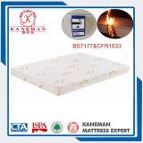 BS7177 y CFR1633 Soporte suave de memoria de espuma de colchón