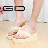 De Dia's van de Wipschakelaar van de Schoenen van Sandals van het Platform van Womem van de Pantoffels van wiggen