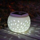 Lumière solaire décorative colorée de fête d'anniversaire de noce de petite d'Apple de forme de céramique lumière solaire de décoration