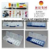 Caixa transparente da variedade da pesca do comprimento longo