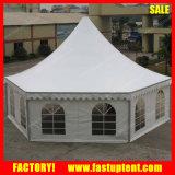 Диаметр 12m шатра Pagoda стены шестиугольного Gazebo стеклянный твердый
