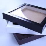 Schwarzer Zoll PS-Wholesale quadratische Schatten-Kasten-Bilderrahmen des Frame& MDF-Rückenbrett-4*6