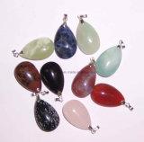 Moda Pingente, Semi Precious Stone pingente, pingente de cristal (ESB01409)