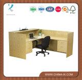 Kundenspezifischer L-förmiger Empfang-Schreibtisch mit 4 Fächern