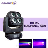4 * 60W Mini DMX Controlled Moving Head Wash Light pour scène